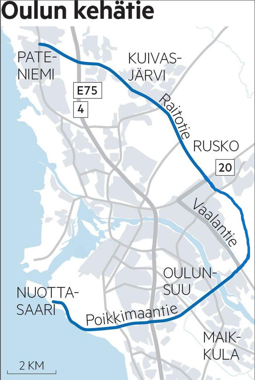Uusi Kehätie mahdollistaa Kivikkokankaan asukkaiden kätevän liikkumisen pohjoisen suuntaan esimerkiksi Hiukkavaaran keskukseen, yrityskeskittymä Ruskoon tai Linnanmaan kampusalueelle.